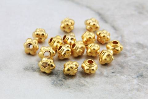 Gold Plated Spacer Bead Findings for Making Jewelry - Gold Plated