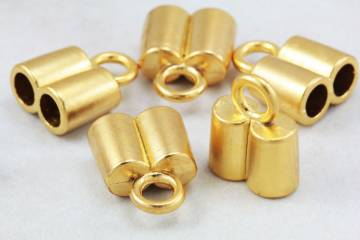 gold-plated-metal-double-hole-end-caps