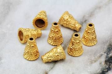 gold-plated-cone-metal-bead-cap-findings